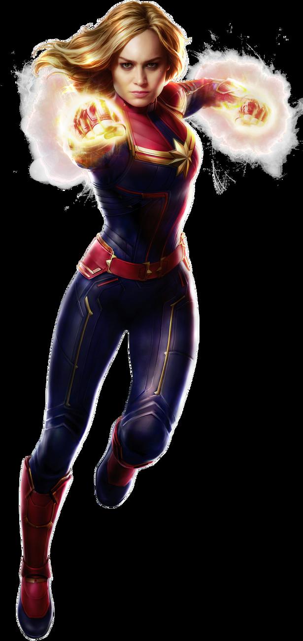 Captain Marvel Transparent by Asthonx1 Capitã marvel