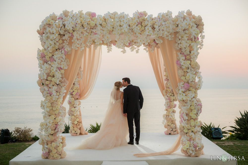 Ceremony Arch 10x10 Canopy With All White Flowers Different
