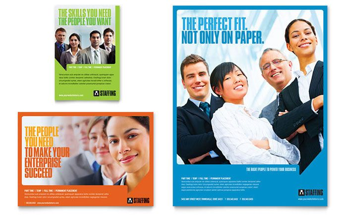Staffing and recruitment agency flyer and ad design for Design recruitment agencies