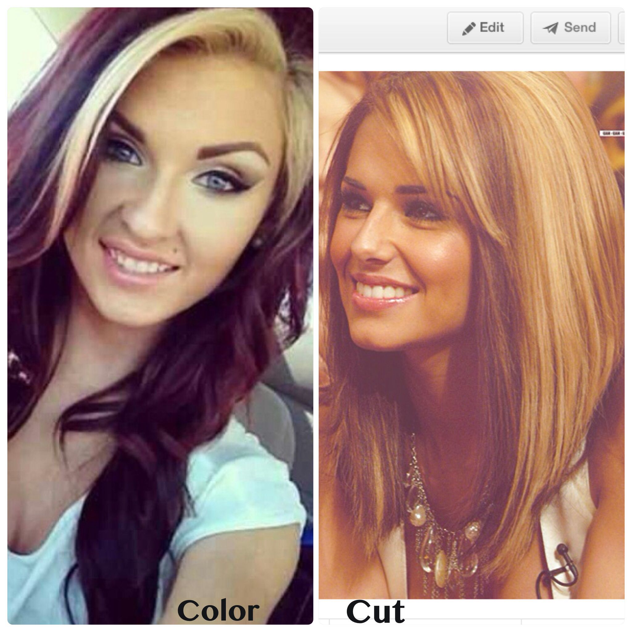 Color on the left cut on the right... Yep, this is happening in a few days! Eeeek!