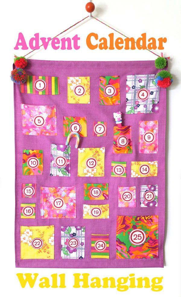 How To Advent Calendar Wall Hanging Calendar wall, Advent
