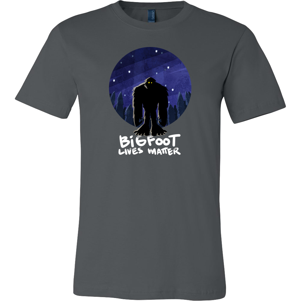 Bigfoot Sasquatch Silhouette Lives Matter Stamped Shirt