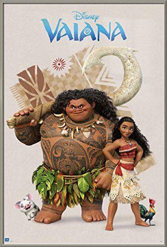 Vaiana Moana Framed Disney Movie Poster Print Vaiana Moana Maui