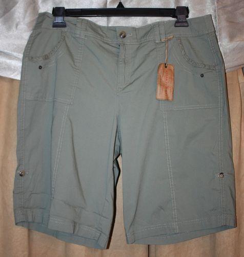 Woman's Size 22W 3X Sage Green Bermuda Stretch Shorts by Khaki & Co NEW NWT | eBay