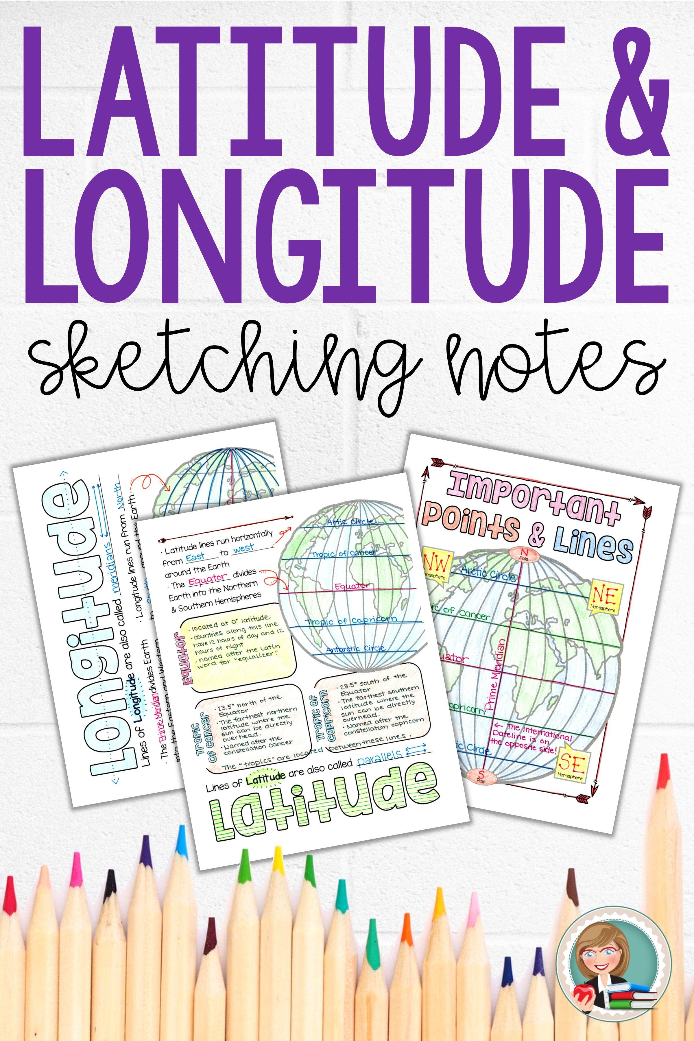 Latitude And Longitude Notes Map Skills Informational Reading Passages Informational Reading [ 3600 x 2400 Pixel ]