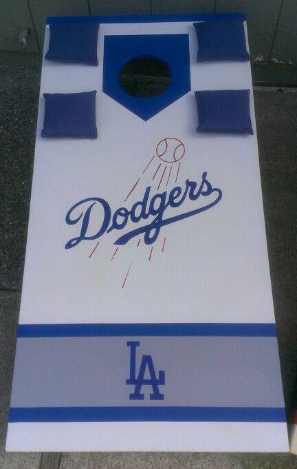 LOS ANGELES LA DODGERS CORNHOLE BEAN BAGS SET OF 8 TOP QUALITY TOSS GAME