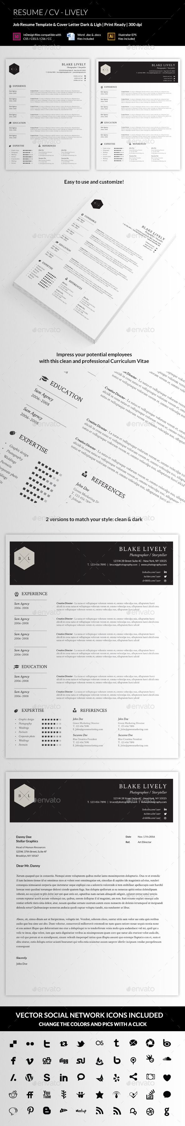 ResumeCv  Lively  Resume Cv Simple Resume And Cv Template