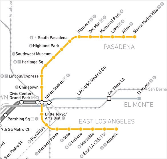 Gold Line Gold Line Metro Map Union Station