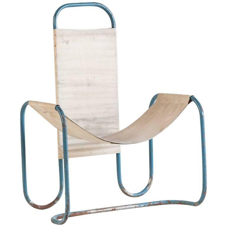 Erich Dieckmann Armchair Lounge German Bauhaus Steel