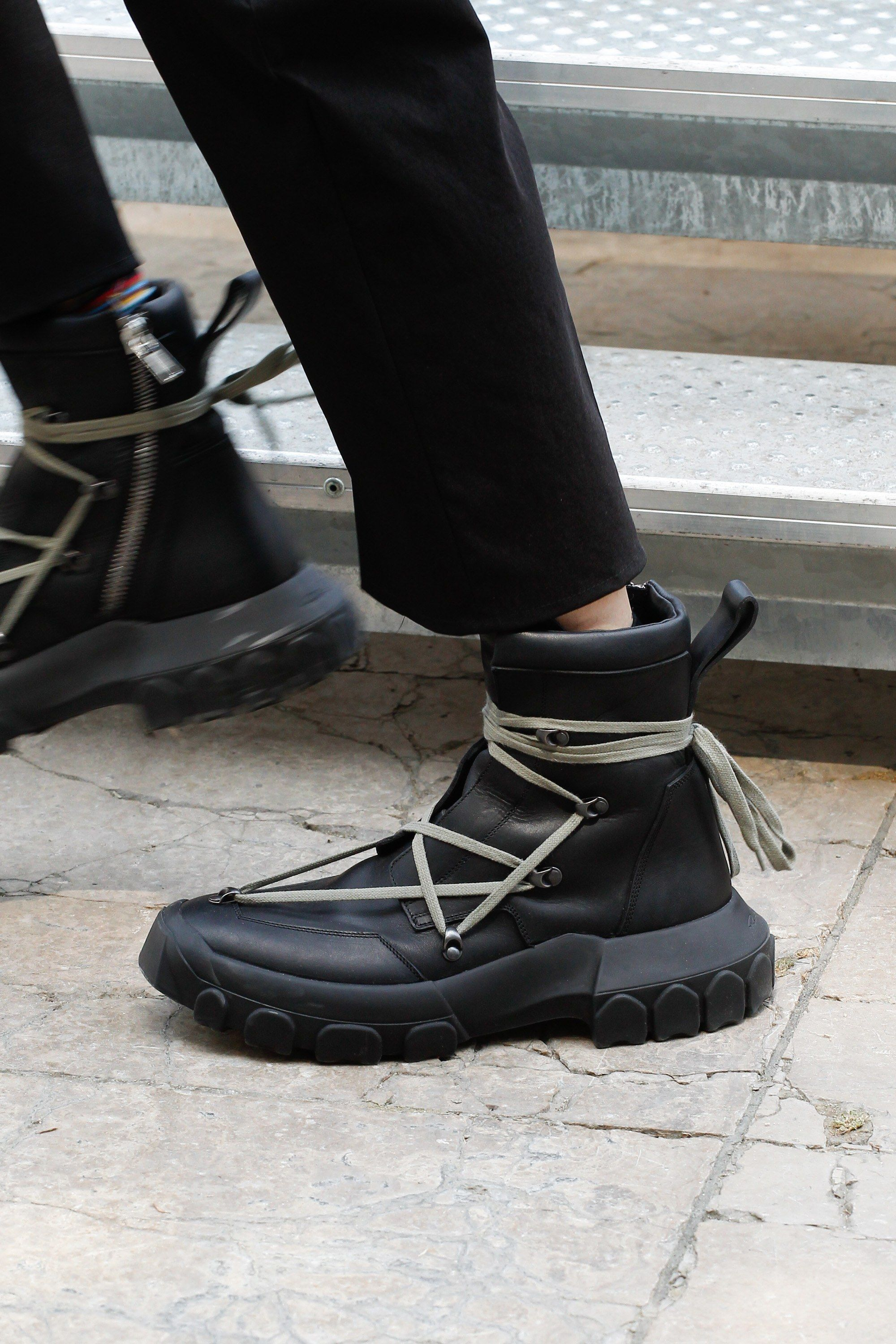 Rick Owens Spring 2018 DIRT Boots