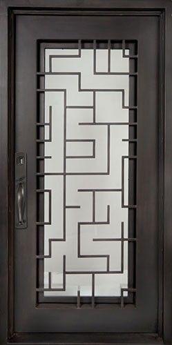 40x98 Sunrise Iron Door Beautiful Wrought Iron Front Entry Door