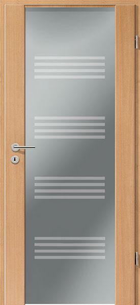 Porte intérieure contemporaine type 2100 motif piccolines Porte
