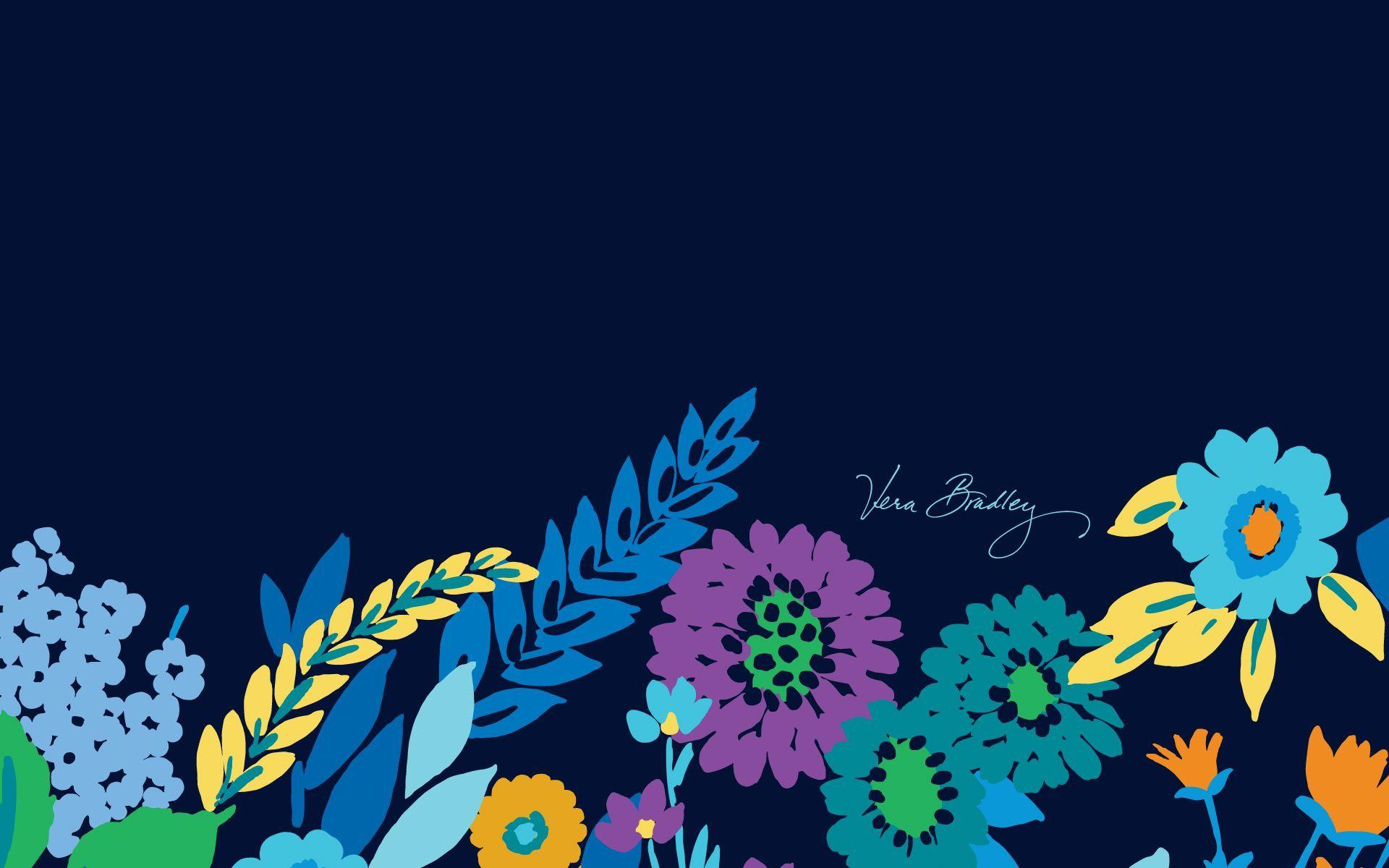 Vera Bradley Desktop Wallpaper Midnight Blues Spring 2013 Vera Bradley Wallpaper Spring Wallpaper Phone Wallpaper Design