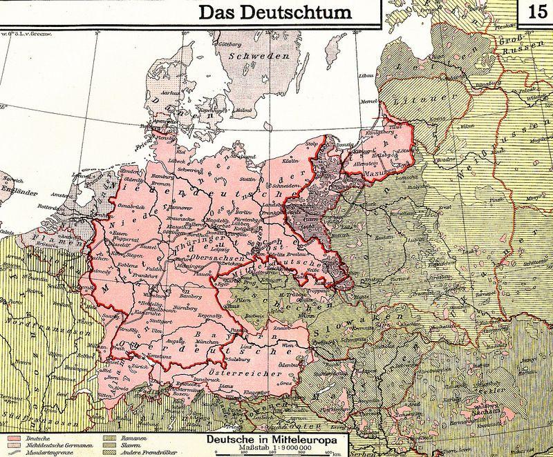 Lange Diercke Sachsen Deutschtum Mitteleuropa Map Map Globe