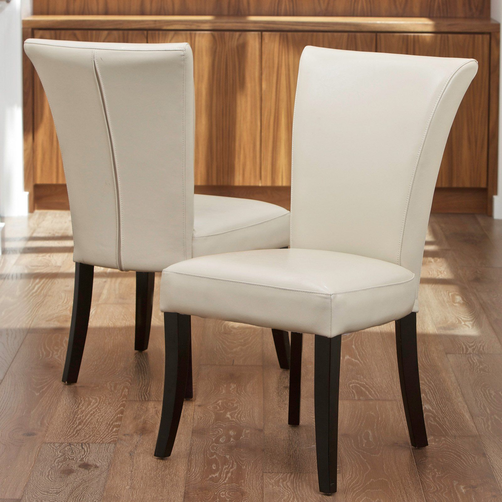 Have To Have Itstanford Ivory Leather Dining Chairs  2 Pack Mesmerizing Ivory Leather Dining Room Chairs Design Ideas