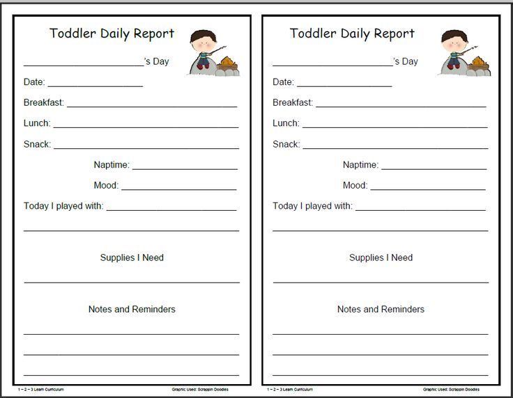 free daycare printables - Google Search | BABY | Pinterest ...