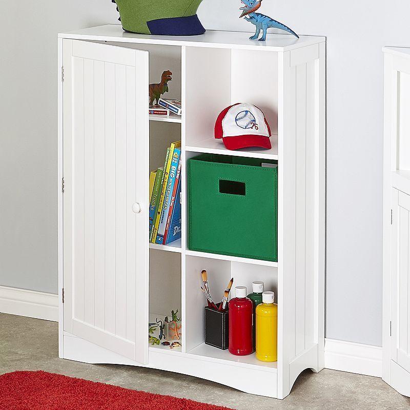 RiverRidge Kids 1 Door Cubby Storage Cabinet,
