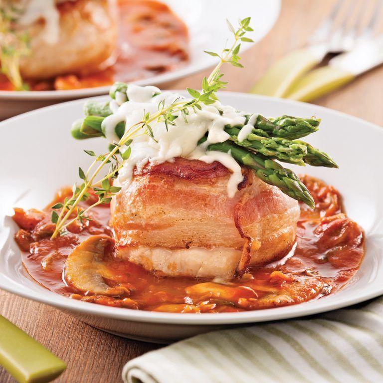 Tournedos de poulet aux asperges et fromage 5