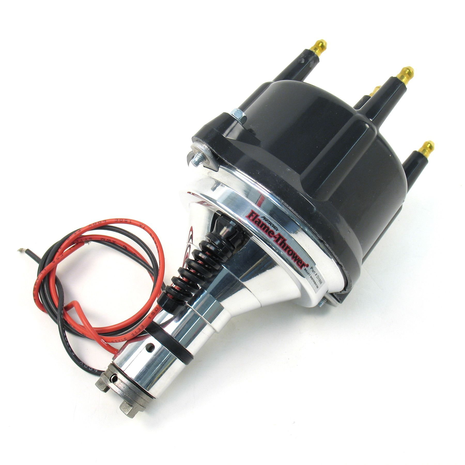 pertronix flame thrower billet distributor w black cap and ignitor electronic ignition [ 1800 x 1800 Pixel ]