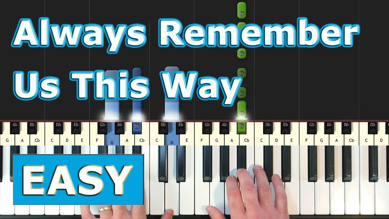 Lady Gaga Always Remember Us This Way Easy Piano Tutorial A