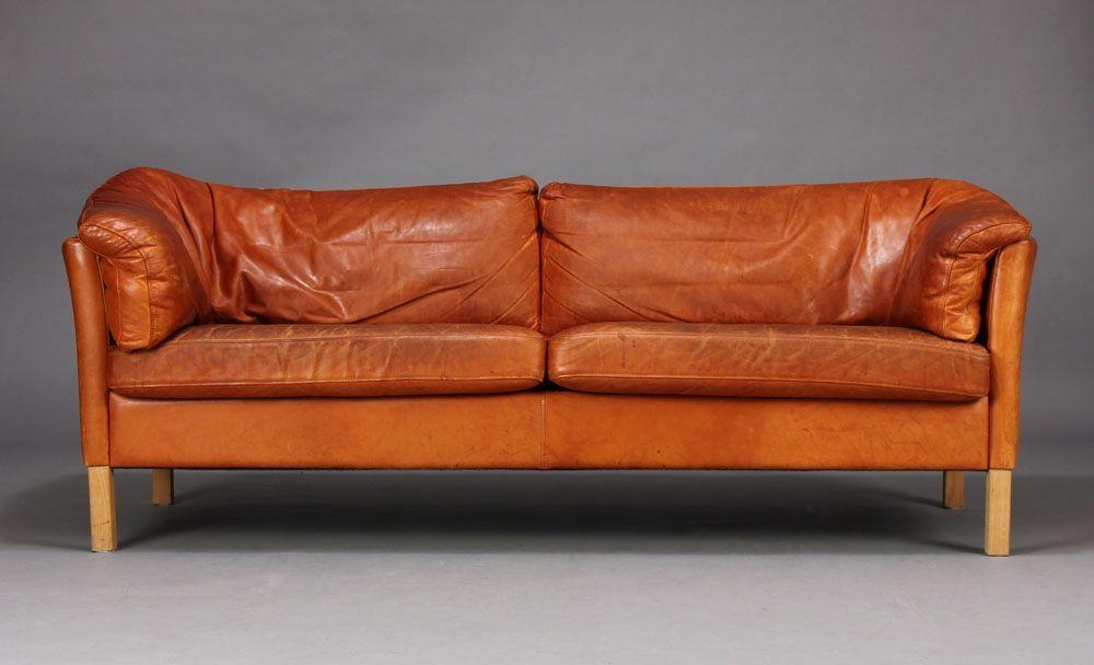 Danish Leather Sofa By Mogens Hansen Seating Leather Sofa Sofa Leather