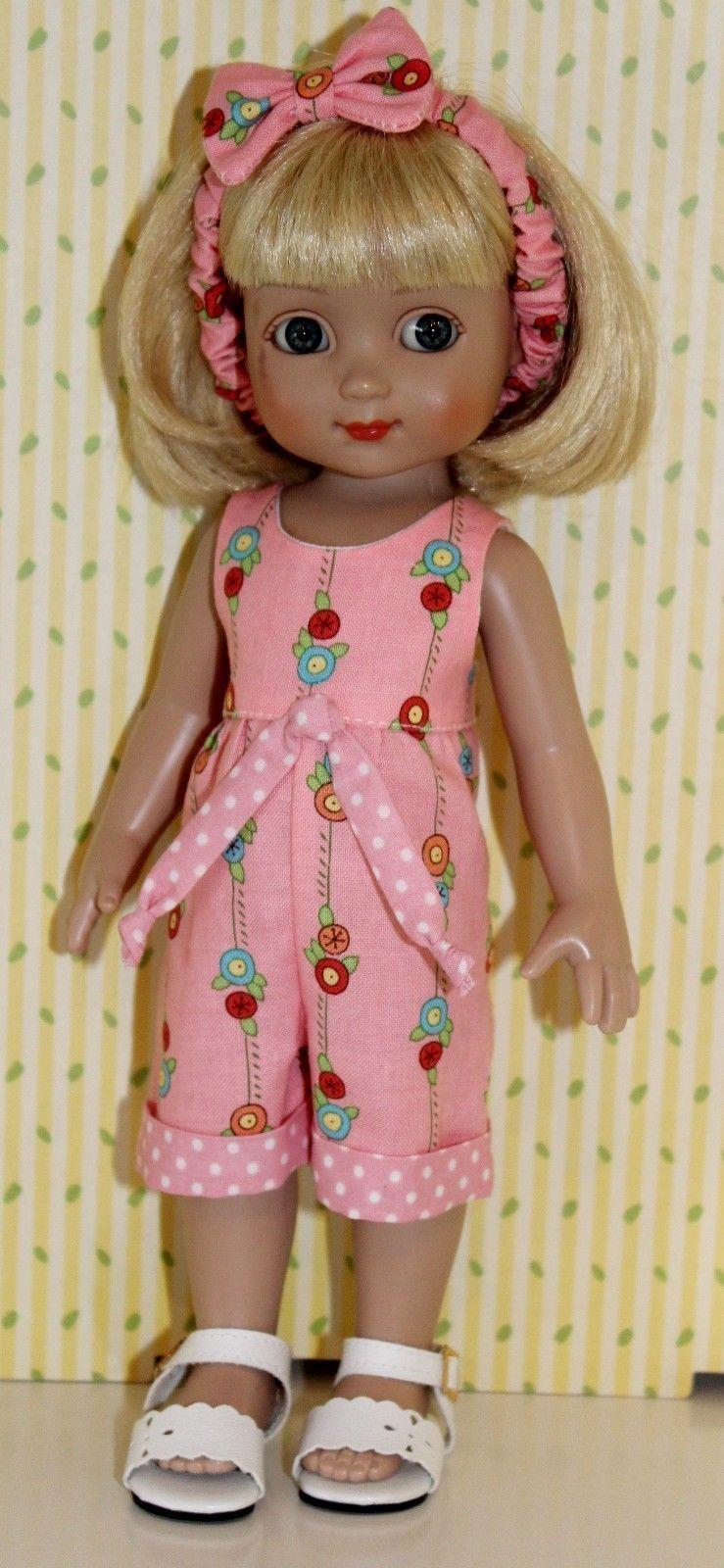 "Effanbee YELLOW PRINT ROMPER SET fits 8/' 10/"" baby doll /& 10/"" ann estelle SALE"