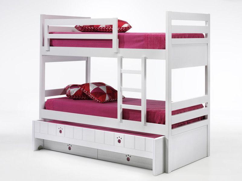 Litera infantil con 3 camas y cajones www.xikara.net