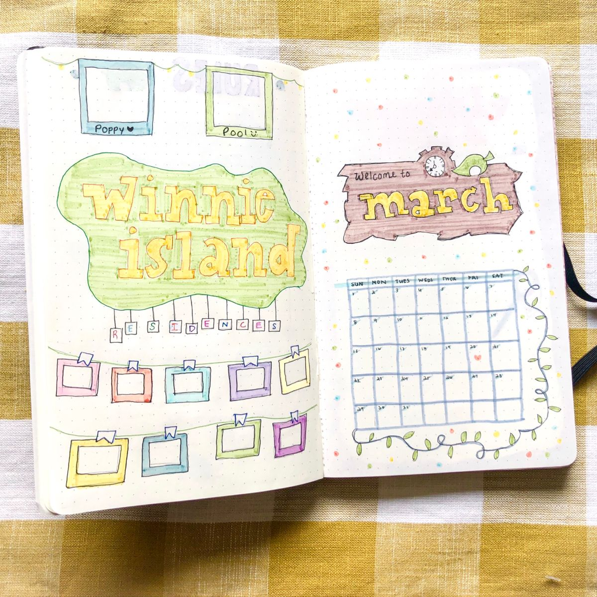 A bullet journal design for Animal Crossing New Horizons