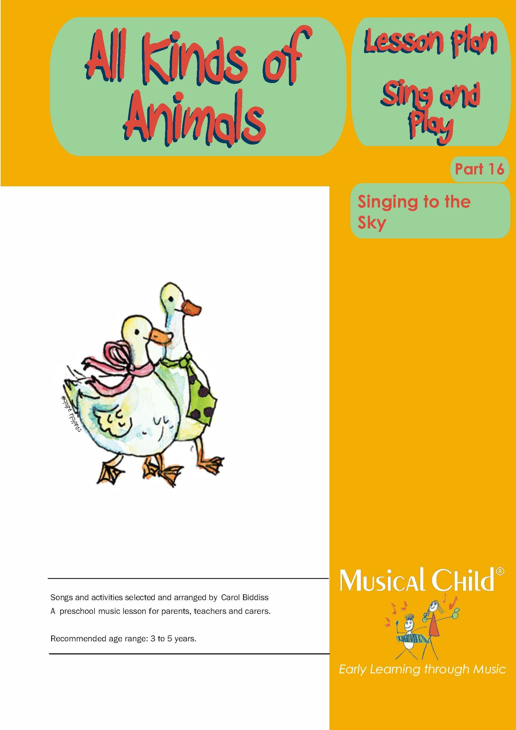 Songs And Activities About Specific Birds And Animals