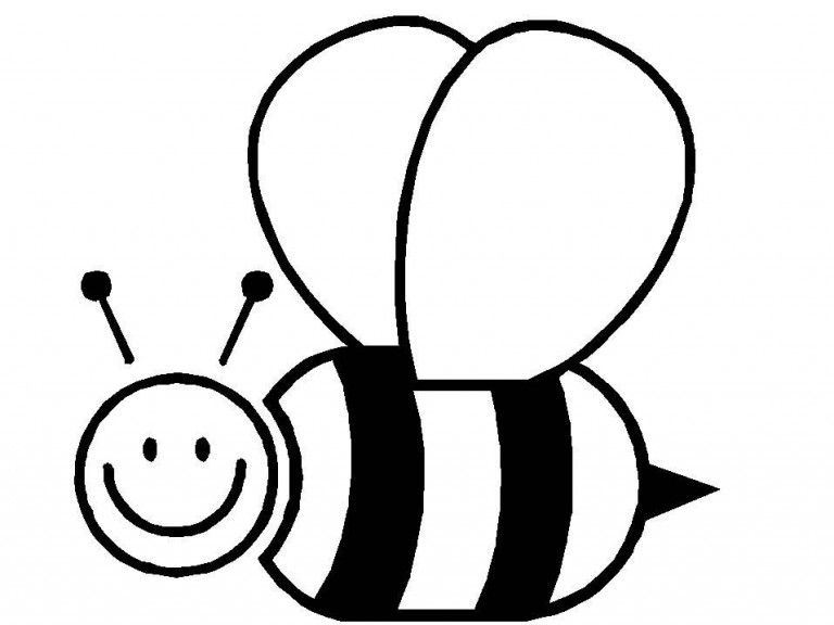 Animals Bee Printable Coloring Pages For Preschool Com Imagens