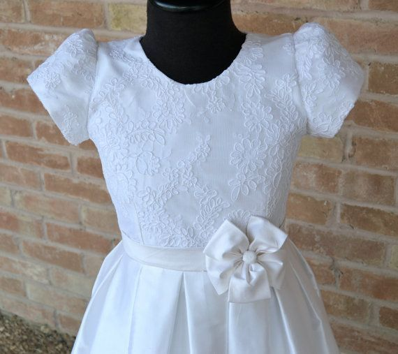 Cotillion Dress, First Communion Dress, Holy First Communion Dress, 1st Communion Dresses, Confirmation Dresses, Flower Girl Dresses #confirmationdresses First Communion Dress Holy First Communion by CouturesbyLaura #confirmationdresses
