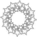 mandala star pattern coloring page