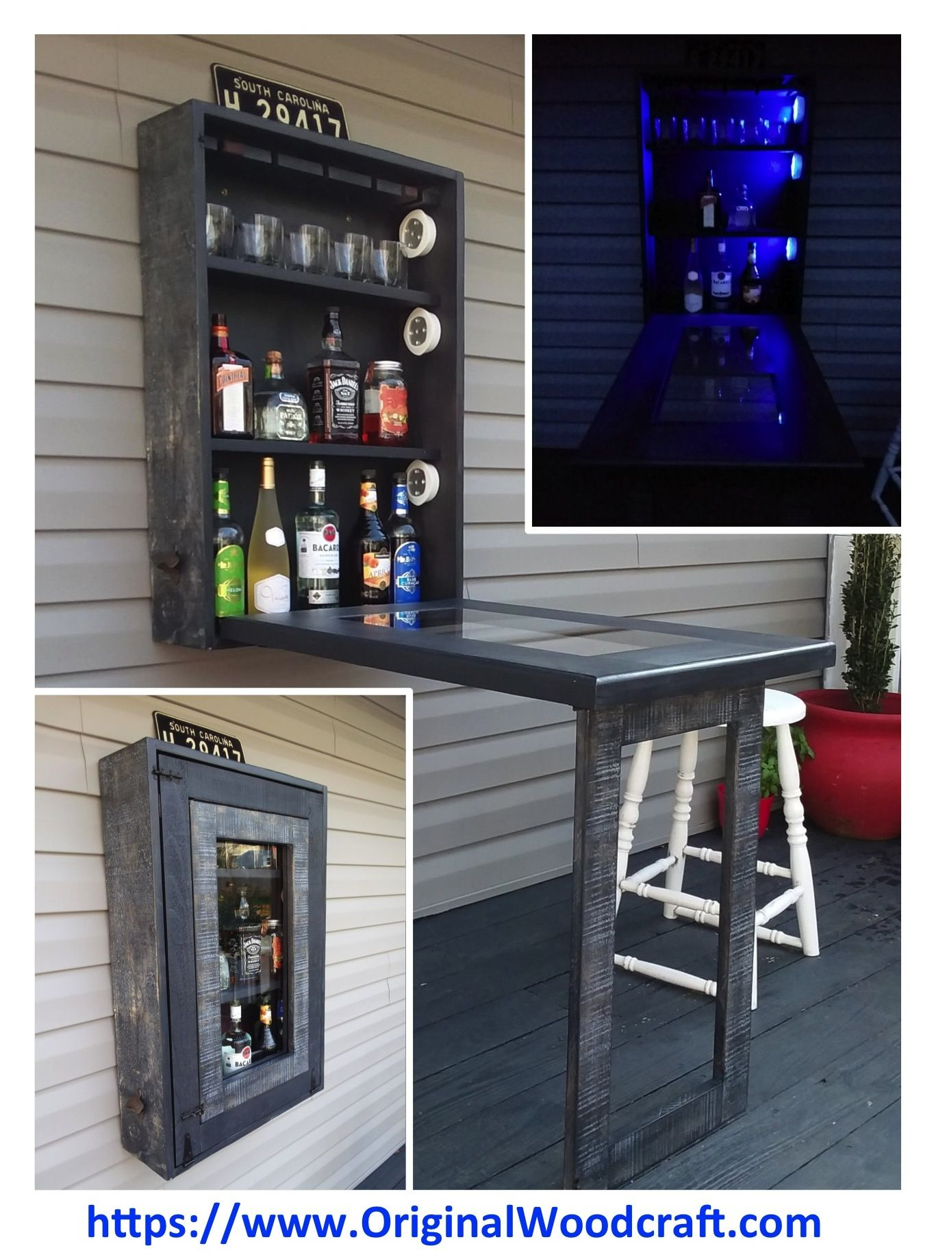 New Compact Instant Folding Murphy Bar For Your Man Cave Tiki Bar