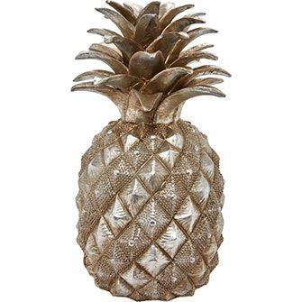 Silver Tone 30cm Tabletop Pineapple