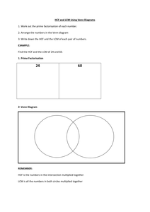 Hcf And Lcm Using Venn Diagrams Electrical Outlet Wiring Docx Education Diagram