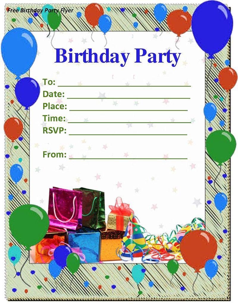 birthday invitation : birthday invitation templates - Free ...