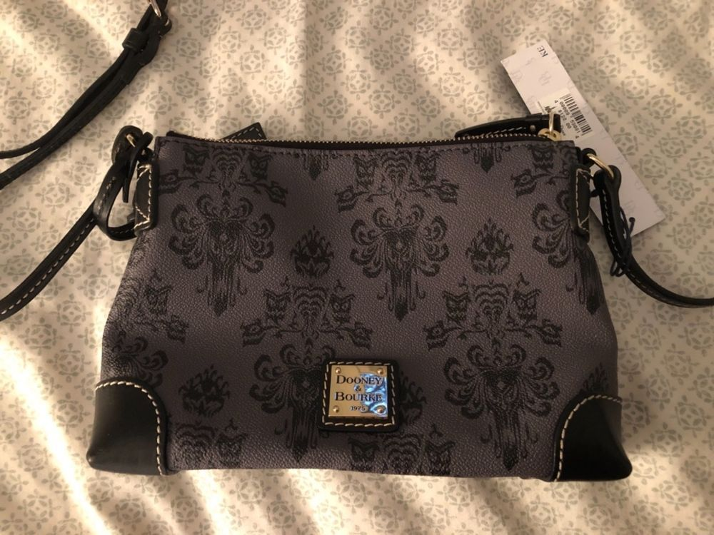 Disney Haunted Mansion Wallpaper Dooney And Bourke Crossbody Purse Fashion Clothing Shoes Accessories Womensbagshandbags Ebay Bags Dooney Purses And Bags