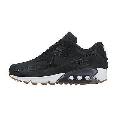 more photos ebd1b 24b05 Nike Air Max 90 Premium Womens 443817-006 Black Safari Running Shoes Size  6.5