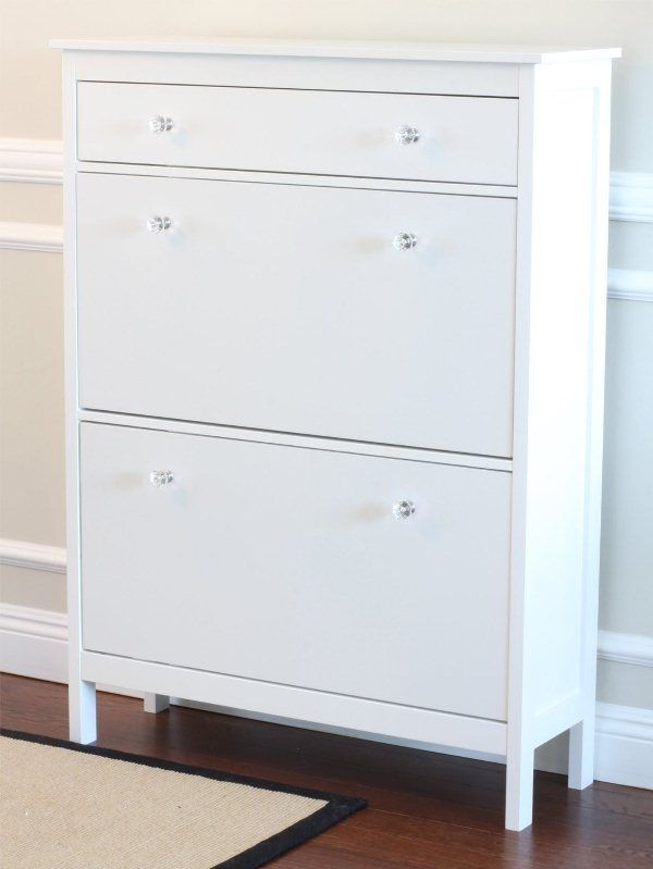 Shoe Cabinet With Storage Drawer In White Finish   Sears Part 29
