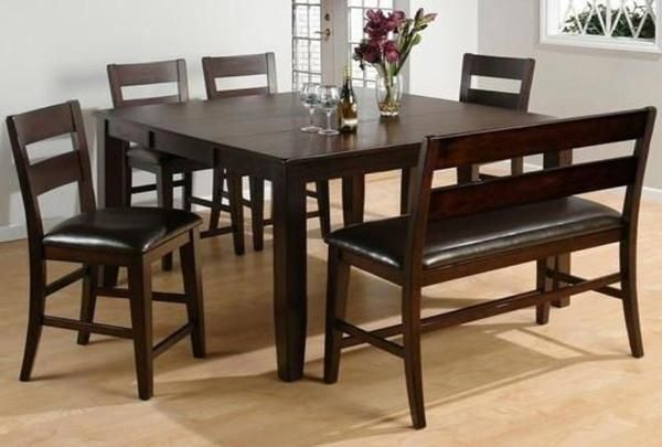 Maldives Counter Height Table W 4 Chairs In 2020 Tall Kitchen