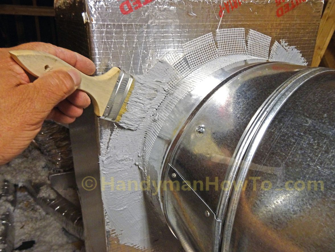 How to Seal Sheet Metal Duct with Mastic Duct work, Hvac