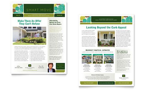 Real Estate Newsletter Template byLayouts – Example of Newsletter Templates