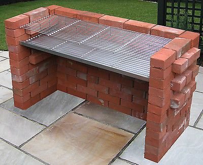 Extra Large 100 Stainless Steel Heavy Duty Diy Brick Charcoal Bbq
