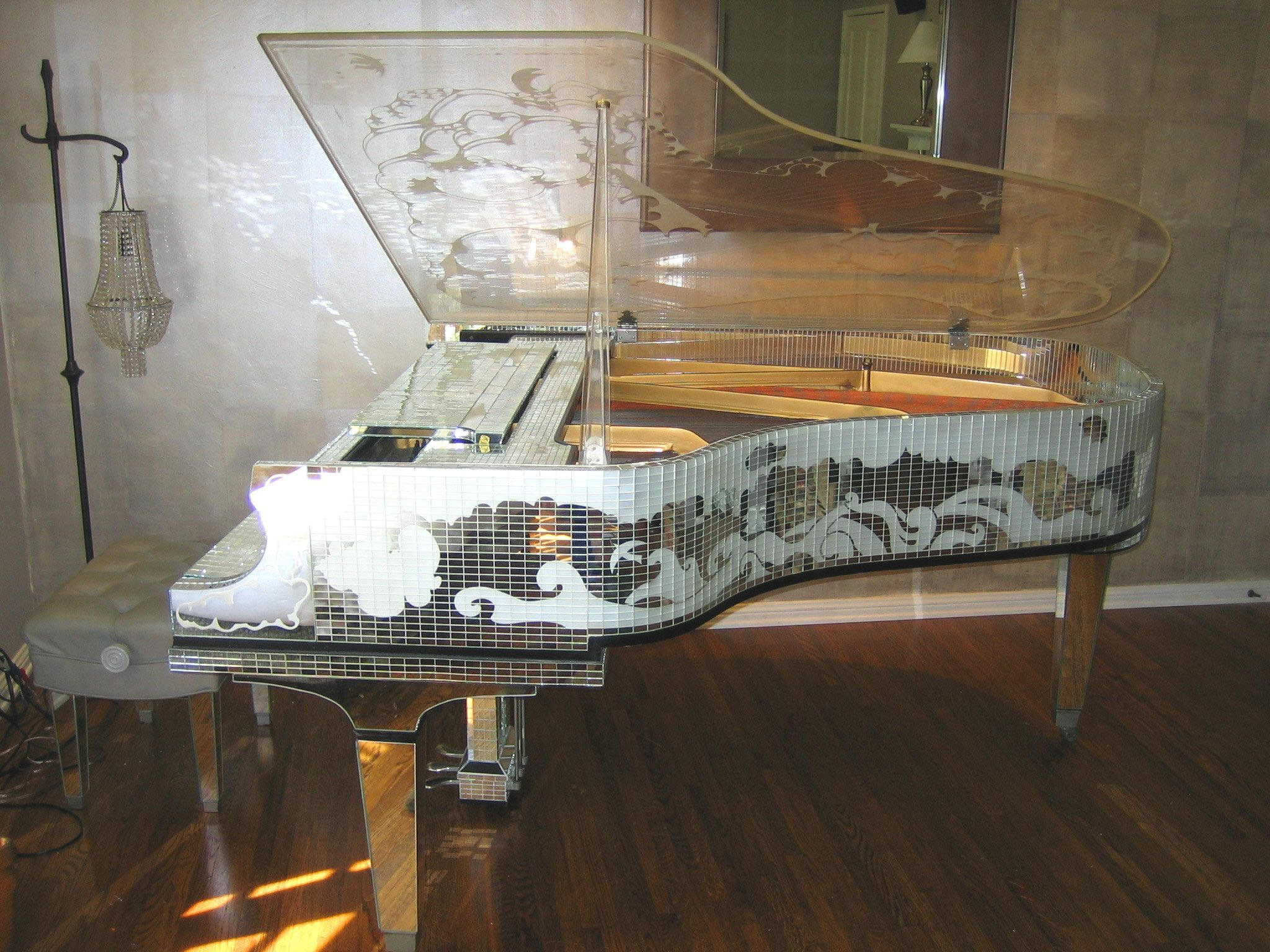 I want to learn how to play on this fabulous piece of glamorous <3