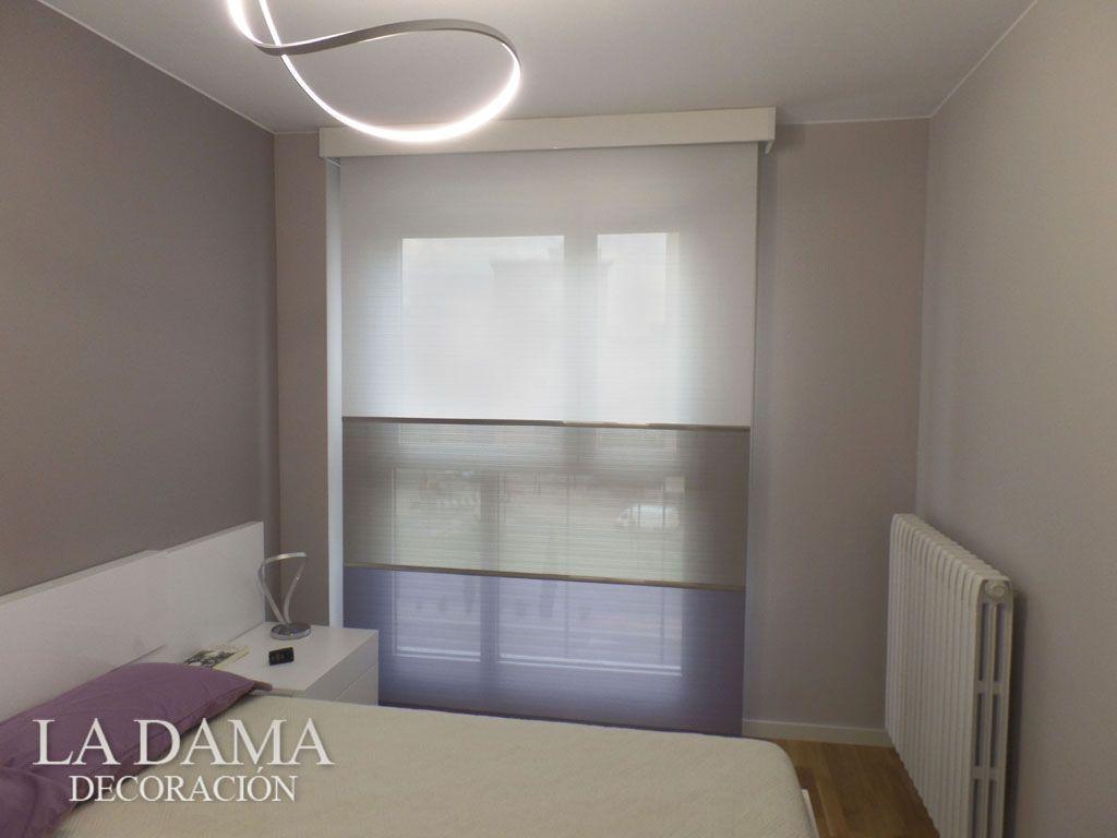 Cortina Enrollable para Dormitorio con tres secciones