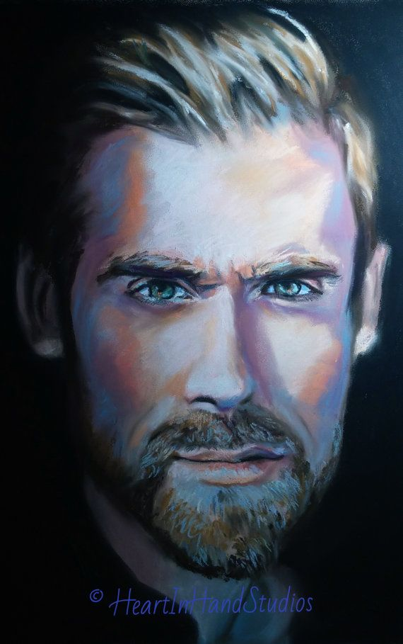 """""""Zetterberg"""", Original Pastel Portrait. Subject is Swedish NHL player Henrik Zetterberg.  HeartInHand uses only the finest, highest-quality pastel pigments and acid-free paper to ensure each piece will stand the test of time. This portrait uses Rembrandt and Sennelier pastels on Canson sanded paper."""