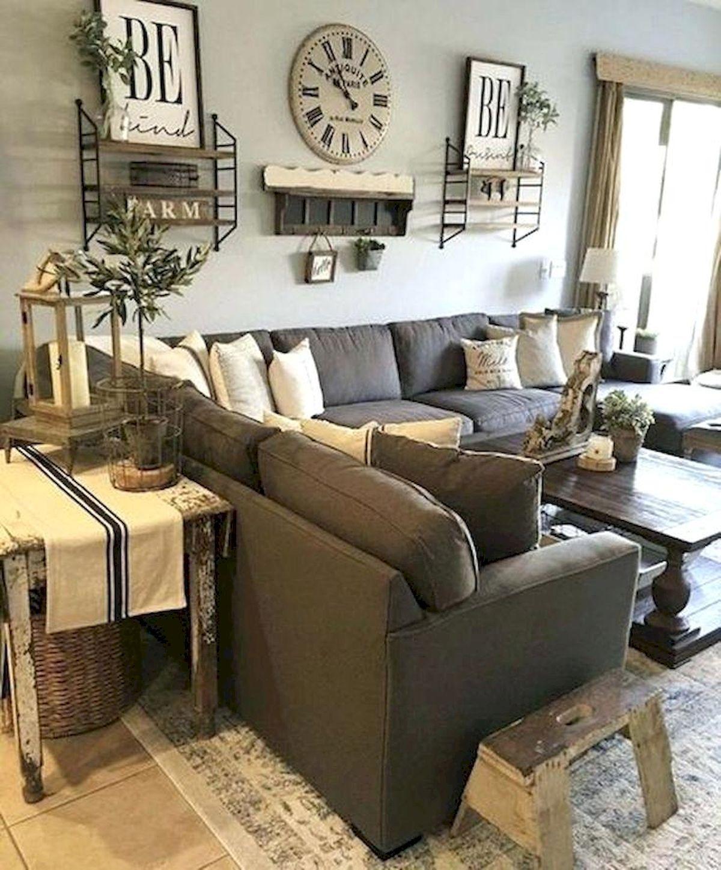 50 Rustic Farmhouse Living Room Decor Ideas images