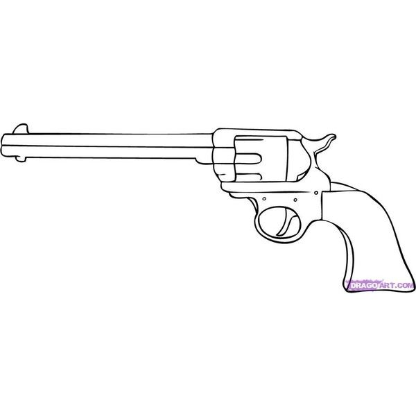 How To Draw A Cartoon Gun Step By Step Guns Weapons Free Online