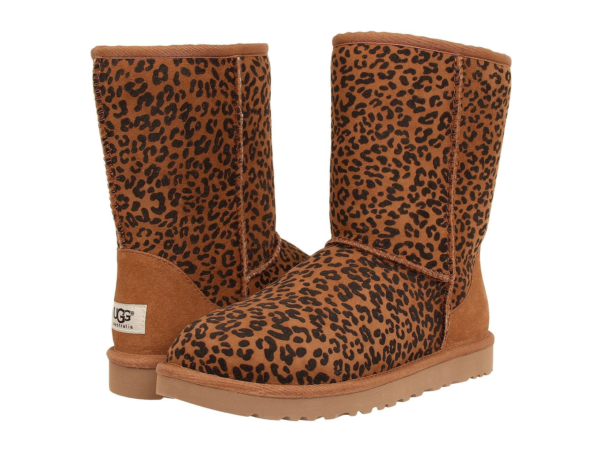Classic Short Ugg Rosette Leopard BootsUgss Print EDH2IW9