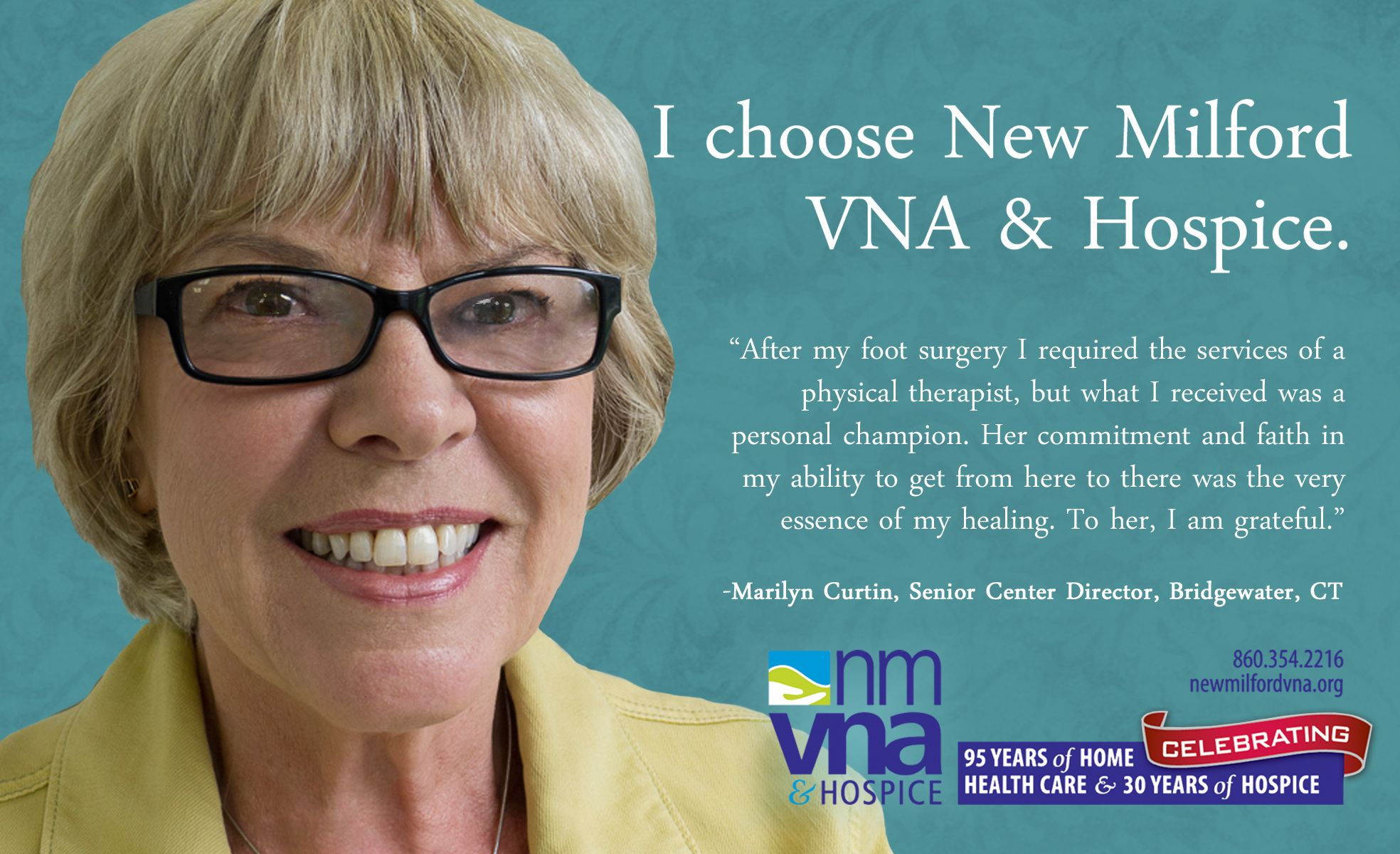 Marilyn Curtin, Senior Services Director Bridgewater, CT